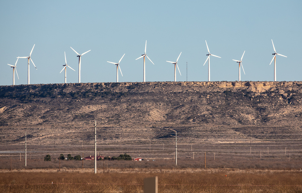 Wind farm in the Permain Basin.