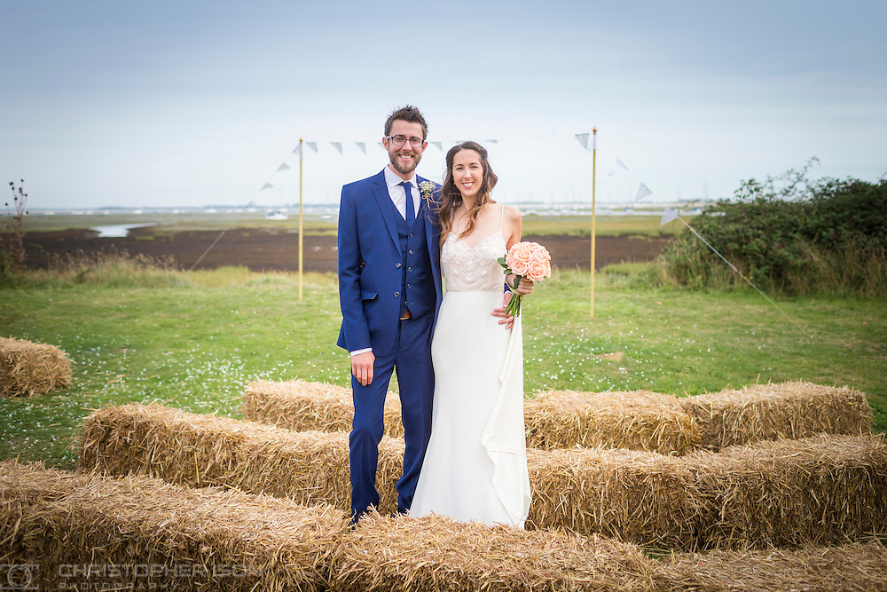 Amy and Rob's wedding at Tournerbury Woods, Hayling Island.<br /> Picture date: Saturday September 24, 2016.<br /> Photograph by Christopher Ison ©<br /> Contact: 07791125408 <br /> helen@itmustbeloveweddings.com<br /> www.itmustbeloveweddings.com<br /> or alternatively<br /> 07544044177<br /> chris@christopherison.com<br /> www.christopherison.com