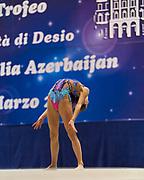 "Camilla De Luca by team italia of rhythmic gymnastics  during the ""7th tournament city of Desio"", 09 March 2019."