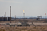 Oil and gas facility in Otis, New Mexico, that Earthworks has reported numerous times for methane emissions filmed with their optical gas imaging camera.