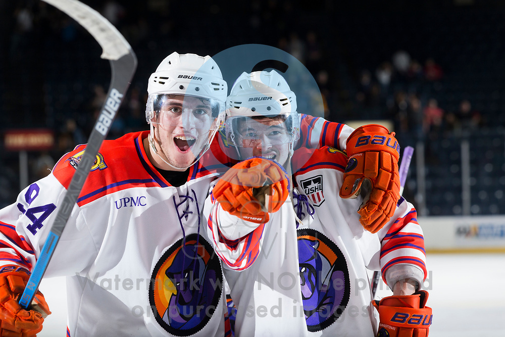 The Youngstown Phantoms defeat Team USA NTDP 6-5 in overtime at the Covelli Centre on January 11, 2020.<br /> <br /> Reilly Funk, forward, 94