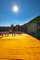 """Christo's & Jeanne-Claude's """"The Floating Piers"""" Project on Lake Iseo as experienced by the visiting public."""