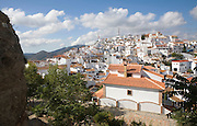 Hilltop Andalusian village of Comares, Malaga province, Spain
