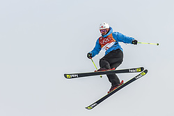 February 18, 2018 - Pyeongchang, Gangwon, South Korea - Antoine Adelisse of  France competing in slope style for men at phoenix park, Pyeongchang,  South Korea on Febuary 18, 2019. (Credit Image: © Ulrik Pedersen/NurPhoto via ZUMA Press)
