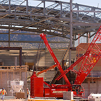 112712       Brian Leddy<br /> Construction continues at the site of the Window Rock sports arena Tuesday in Ft. Defiance. The arena will be the home of the Window Rock Scouts sports teams.