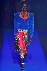 Model Nicole Atieno walks on the runway during the Gucci Fashion Show during Milan Fashion Week Spring Summer 2018 held in Milan, Italy on September 20, 2017. (Photo by Jonas Gustavsson/Sipa USA)