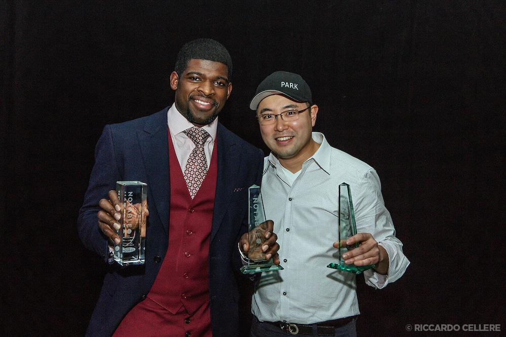 Antonio Park and P.K. Subban at Notable awards Montreal - November 26, 2014.