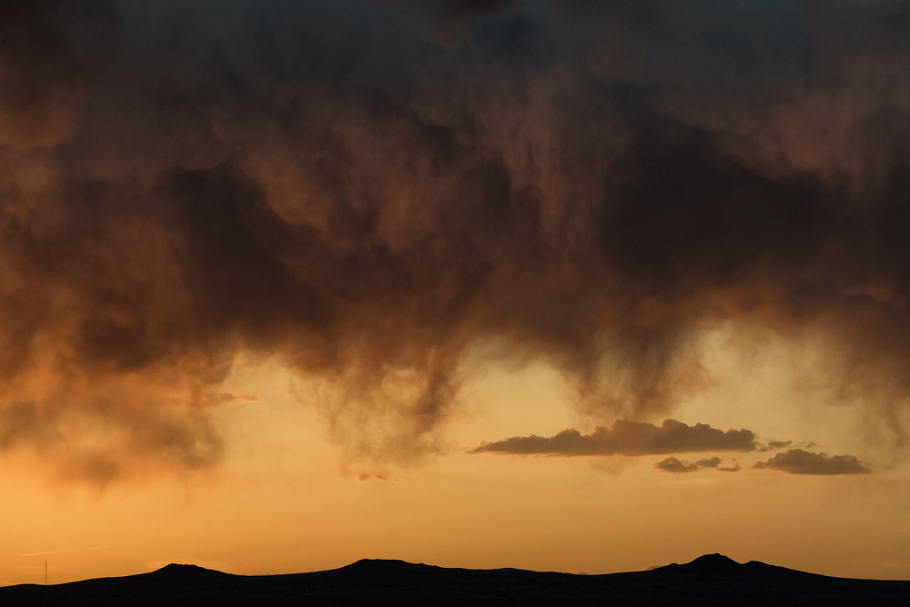 Clouds at sunset over Albuquerque, New Mexico