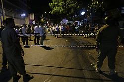 PHNOM PENH, Sept. 7, 2016 (Xinhua) -- Police cordoned off an area, where a bomb exploded in Phnom Penh, Cambodia, Sept. 6, 2016. A bomb exploded on a roadside in Phnom Penh, capital of Cambodia, on Tuesday night, injured three persons, according to police. (Xinhua/Phearum).****Authorized by ytfs* (Credit Image: © Phearum/Xinhua via ZUMA Wire)