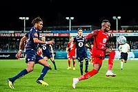 Fotball , 11 November 2018 , Eliteserien , Kristiansund - Brann , Christophe Charles Steven Rene Psyche og Karamoko Daouda Bamba<br /> <br /> <br /> , Foto: Marius Simensen, Digitalsport