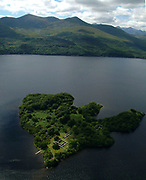 An aerial view of the Franciscan Monastery where Brian Boru studied and the Annals of Innisfallen were written on Innisfallen Island on Lough Lein, Killarney.<br /> Picture by Don MacMonagle