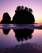 Crying Lady Rock and Sunset at Second Beach, Olympic National Park, Washington