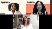 Step Up Alum Audre Wheeler, Step Up CEO Dolores Morton, and Award Recipient Debbie Allen