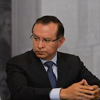 Toluca, México (Febrero 05, 2018).- Raymundo Martínez Carbajal, Secretario de Movilidad durante la ceremonia de Aniversario de la promulgacion de las Constituciones Federales de 1857 Y 1917.  Agencia MVT / Crisanta Espinosa.