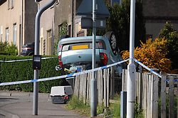RTC Oakley 15-5-2016<br /> <br /> RTC in Oakley Fife following a police chase at the junction of Sir George Bruce Road and Station Road<br /> <br /> (c) David Wardle   Edinburgh Elite media