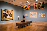 The North West Passage 1874 by John Millais in a room of maps and 'adapted' flags from around the Empire - Artist and Empire - a new Tate Britain exhibition about Imperial visual culture, examining the people who helped to create or confront the British Empire in their art. It features over 200 paintings, drawings, photographs, sculptures and artefacts from across the British Isles, North America, the Caribbean, the Pacific, Asia and Africa. Exhibition highlights include: Major historic paintings by the likes of Johan Zoffany, George Stubbs, Lady Butler Anthony Van Dyck and Thomas Daniell; Rare Maori portraits which are being exhibited in London for the first time in almost 100 years; The first chance to photograph one of the nation's favourite paintings, The North-West Passage 1874 by John Everett Millais since undergoing new conservation; and new work by artist Andrew Gilbert, made especially for the exhibition. Artist and Empire at Tate Britain from 25 November 2015 to 10 April 2016.