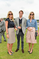 Left to right, MARINA FOGLE and NICK & OLIVIA WILKINSON  at the Cartier Queen's Cup Final 2016 held at Guards Polo Club, Smiths Lawn, Windsor Great Park, Egham, Surry on 11th June 2016.