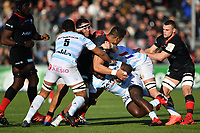 Rugby Union - 2019 / 2020 European Rugby Heineken Champions Cup - Pool Four: Saracens vs. Racing 92<br /> <br /> Saracens' Will Skelton is tackled by Racing 92's Boris Palau, at Allianz Park.<br /> <br /> COLORSPORT/ASHLEY WESTERN