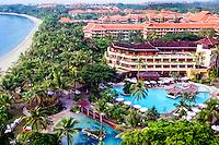 Bali, Badung, Nusa Dua. Hotels on Nusa Dua, Bali. (From helicopter)
