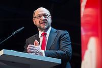 22 MAR 2017, BERLIN/GERMANY:<br /> Martin Schulz, SPD Parteivorsitzender und Spitzenkandidat der SPD zur Bundestagswahl, haelt eine Rede auf dem Neumitgliedertreffen der Berliner SPD, Festsaal Kreuzberg<br /> IMAGE: 20170322-02-102<br /> KEYWORDS: Martin Schulz, speech, Kanzlerkandidat, candidate