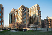 A view from the southwest of The Bartlett in Arlington, Virginia -- exterior design by Maurice Walters Architect