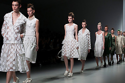 """London, 17 Septemper 2013<br /> LONDON FASHION WEEEK<br /> DESIGNER NAME: Simone Rocha<br /> <br /> BACKGROUND: In 2008, Simone completed her BA in fashion from The National College of Art & Design in Dublin. She graduated from her MA at Central Saint Martins in 2010.<br />  <br /> SIGNATURES: """"Modern and strong yet romantic.""""<br /> <br /> TRADEMARK PIECE: """"The floating perspex brogue.""""<br />  <br /> IDEAL CLIENT: """"A woman who wants to wear beautiful things.""""<br /> <br /> THE COLLECTION: """"The west of Ireland.""""<br /> <br /> FAVOURITE COLLECTION TO DATE: """"Each season it is the most recent.""""<br /> <br /> WHO EMBODIES THE SPIRIT OF YOUR BRAND? """"Any woman or girl who can identify femininity.""""<br /> Contact details<br /> Sales Contact<br /> <br /> Sarah Verdon<br /> sales@simonerocha.com<br /> Tel: +44 (0) 07 8755 5776<br /> <br /> Press Contact<br /> <br /> Naoki Watanabe <br /> naoki.watanabe@karlaotto.com<br /> Tel: +44 (0) 20 7287 9890<br /> <br /> Lissy Von Schwarzkopf <br /> lissy.vonschwarzkopf@karlaotto.com<br /> Tel: +44 (0) 20 7287 9890"""