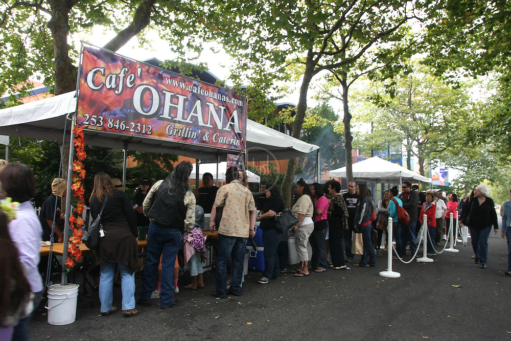 Live Aloha Hawaiian Cultural Festival 2012. Food vendors.