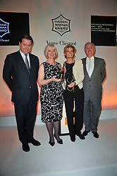 Left to right, JO THORNTON Managing Director Veuve Clicquot UK and MICHELLE McDOWELL chair of civil and structural engineering at design agency BDP and winner of the 38 Veuve Clicquot Business Woman Award, SABINA BELLI and LORD MYNERS at the 38th Veuve Clicquot Business Woman Award held at Claridge's, Brook Street, London W1 on 28th March 2011.