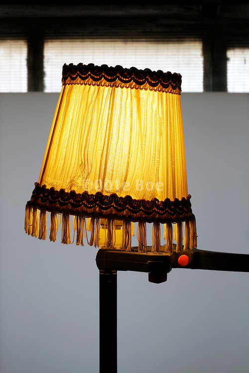 improvised illuminated light stand with lampshades