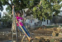 October 23, 2016 - Beit Lahiya, The Gaza Strip, Palestine - Palestinian girl from Beit Lahiya city northern the Gaza Strip. (Credit Image: © Mahmoud Issa/Quds Net News via ZUMA Wire)