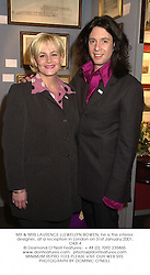 MR & MRS LAURENCE LLEWELLYN-BOWEN, he is the interior designer, at a reception in London on 31st January 2001.OKX 4