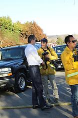 Gavin Newsom the new governor he spotted talking to fire guys in Malibu - 14 Nov 2018