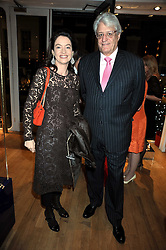 DR & MRS GERT-RUDOLPH FLICK at the Linley Christmas party at their store at 60 Pimlico Road, London on 19th November 2008.