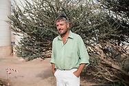 Blaise Jowett, head grower at The Sahara Forest Project on the outskirts of Aqaba, on Jordan's southern Red Sea coastline. The farm uses desalinated sea water and greenhouses to sustainably farm crops in land that was once aris desert.