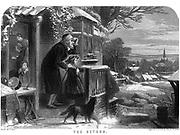 The Return Artwork from Godey's Lady's Book and Magazine, December 1864, Volume LXIX, (Volume 69), Philadelphia, Louis A. Godey, Sarah Josepha Hale,