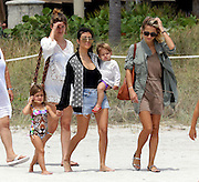 May 3, 2016 - Miami, FL, United States - <br /> <br /> Kourtney Kardashian carries her son Reign Disick as she walks with her daughter Penelope Disick on May 3 2016 in Miami, Florida <br /> ©Exclusivepix Media