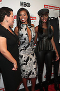 September 20, 2012- New York, New York:  (L-R) Debra Lee, President & CEO, BET Networks, Actress Gabrielle Union and Actress Tika Sumpter attend the 2012 Urbanworld Film Festival Opening night premiere screening of  ' Being Mary Jane ' presented by BET Networks held at AMC 34th Street on September 20, 2012 in New York City. The Urbanworld® Film Festival is the largest internationally competitive festival of its kind. The five-day festival includes narrative features, documentaries, and short films, as well as panel discussions, live staged screenplay readings, and the Urbanworld® Digital track focused on digital and social media. (Terrence Jennings)