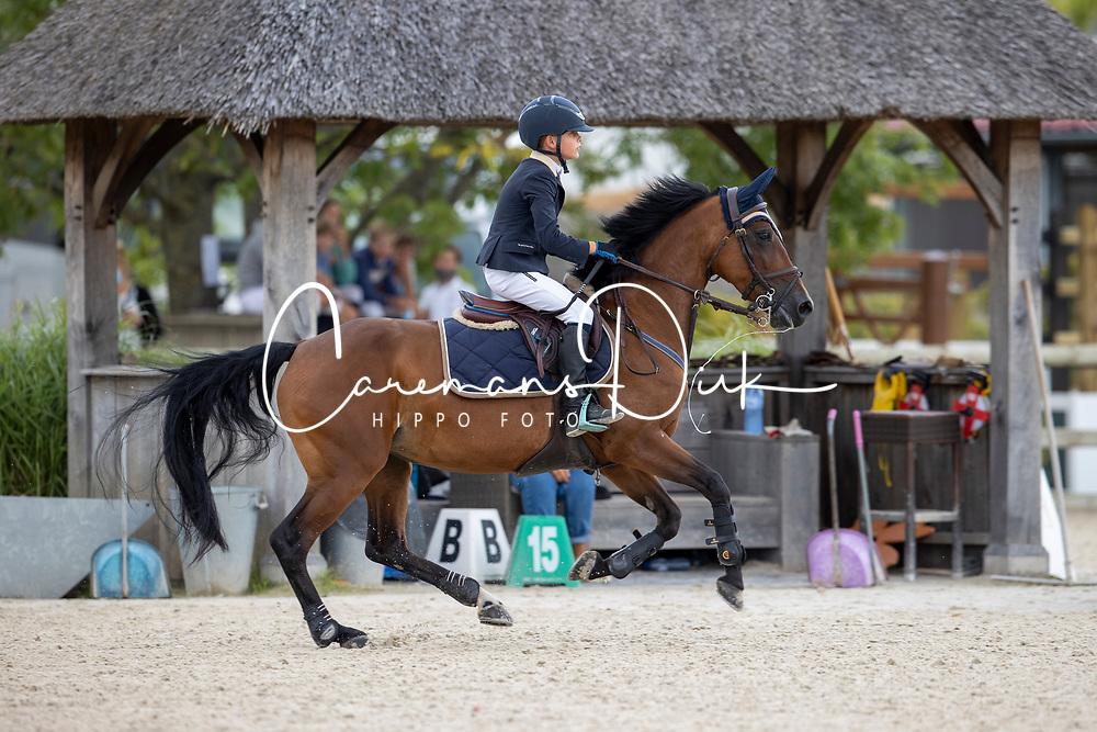 Anthonissen Pieter Jan, BEL, Quality van't Achterhof<br /> Belgisch Kampioenschap Jeugd Azelhof - Lier 2020<br /> © Hippo Foto - Dirk Caremans<br /> 02/08/2020