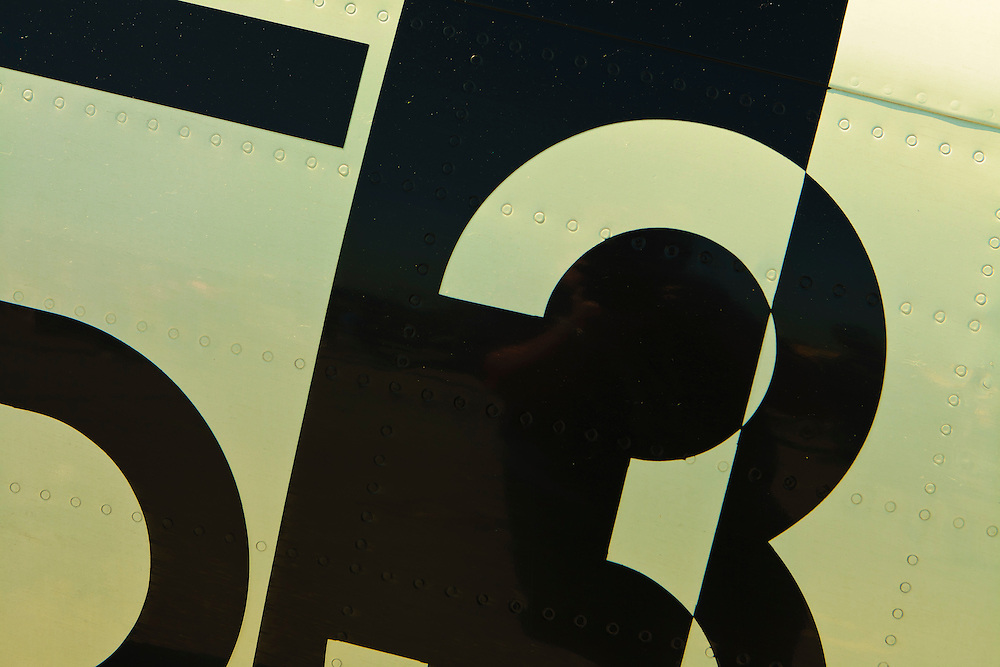 Detail of the fuselage numerals of the Commemorative Air Force's Sea Fury.  Created during Good Neighbor Day at Atlanta's Dekalb Peachtree Airport (PDK).  2009.