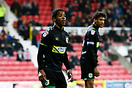 Rhys Browne (9) of Yeovil Town during the EFL Sky Bet League 2 match between Swindon Town and Yeovil Town at the County Ground, Swindon, England on 10 April 2018. Picture by Graham Hunt.