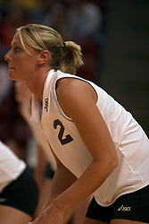 25 September 2004    Panther Rachael Tink.     Illinois State University Redbirds V University of Northern Iowa Panthers Volleyball.  Redbird Arena, Illinois State University, Normal IL