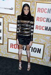 Winnie Harlow attending Roc Nation's The Brunch at One World Trade Center in New York City, NY, USA, on January 27, 2018. Photo by Dennis van Tine/ABACAPRESS.COM