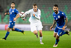 Domen Crnigoj of Slovenia during football match between National Teams of Slovenia and Cyprus in Final Tournament of UEFA Nations League 2019, on October 16, 2018 in SRC Stozice, Ljubljana, Slovenia. Photo by Urban Urbanc / Sportida