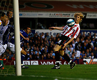 Photo: Steve Bond.<br />Birmingham City v Sunderland. The FA Barclays Premiership. 15/08/2007.  Paul McShane inadvertantly chests the ball into his own net