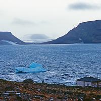 An abandoned science station sits beside Tikhaya Bay on Hooker Island.