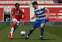 Middlesbrough's Djed Spence takes on Queens Park Rangers' Lee Wallace<br /> <br /> Photographer Alex Dodd/CameraSport<br /> <br /> The EFL Sky Bet Championship - Middlesbrough v Queens Park Rangers - Saturday 17th April 2021 - Riverside Stadium - Middlesbrough <br /> <br /> World Copyright © 2021 CameraSport. All rights reserved. 43 Linden Ave. Countesthorpe. Leicester. England. LE8 5PG - Tel: +44 (0) 116 277 4147 - admin@camerasport.com - www.camerasport.com