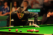 Matthew Stevens in action against Stephen Maguire. 888 Welsh open snooker day 4 action at the Newport Centre in Newport , South Wales on Thursday 16th Feb 2012.  pic by Andrew Orchard, Andrew Orchard sports photography,