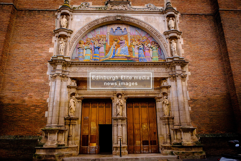 The main entrance to thee Église Notre-Dame de la Dalbade, Toulouse, France<br /> <br /> (c) Andrew Wilson | Edinburgh Elite media
