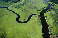 Aerial of Selden Creek, Selden Island along the Connecticut River, Lyme, CT.
