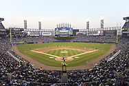 CHICAGO - JULY 06:  A general view of Guaranteed Rate Field as a crowd of 38,634 watch the Major League Baseball game between the Chicago White Sox and Chicago Cubs on July 6, 2019 at Guaranteed Rate Field in Chicago, Illinois.  (Photo by Ron Vesely)